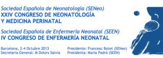 XXIV Congreso de neonatología y medicina perinatal. IV Congreso de enfermería neonatal. Barcelona 2013